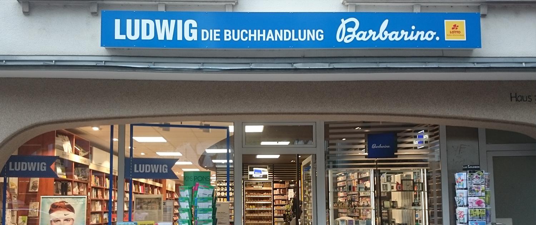 Außenbeschilderung Buchhandlung Ludwig