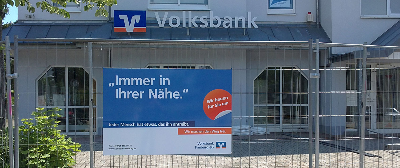 Bauschild Volksbank