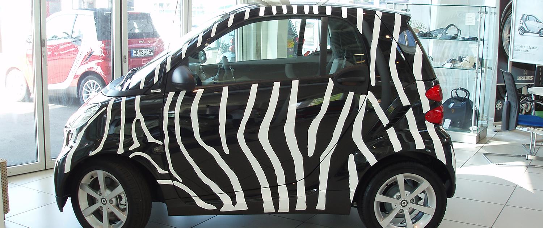 Fahrzeugbeschriftung Smart