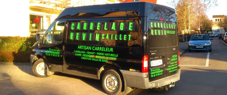 Fahrzeugbeschriftung Artisan Carreleur