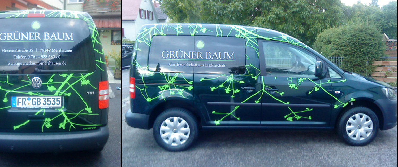 Fahrzeugbeschriftung Grüner Baum