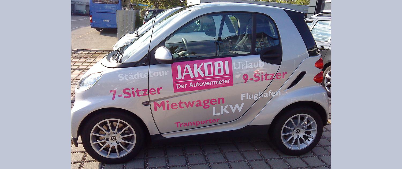 Fahrzeugbeschriftung Jakobi
