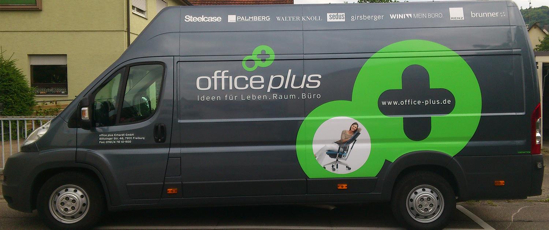 Fahrzeugbeschriftung Office Plus