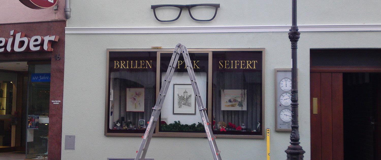 Außenwerbung Brillenpark Seifert