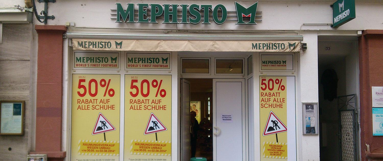 Außenwerbung Mephisto